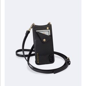 Bandolier Peb. Leather Crossbody iPhone X/XS Case